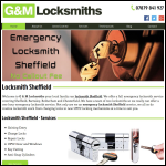 Screen shot of the G & M Locksmiths website.