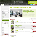 Screen shot of the Greenwood  Apartments website.