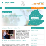 Screen shot of the Local Cleaners Finsbury Park website.
