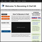 Screen shot of the Becoming A Chef website.