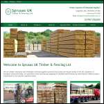 Screen shot of the Sprusas UK Timber & Fencing website.