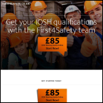 Screen shot of the First4Safety Ltd website.