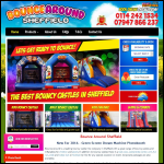 Screen shot of the Bounce Around Sheffield website.