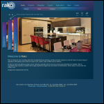Screen shot of the Rako Controls website.