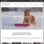 Screen shot of the Snowlandia Boarding Kennels and Cattery website.