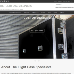 Screen shot of the The Flight Case Specialists website.