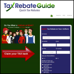 Screen shot of the Tax Rebate Guide website.