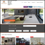 Screen shot of the Home Counties Estate Agents Ltd website.