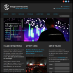 Screen shot of the Stage Connections Ltd website.