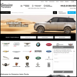 Screen shot of the Genuine Auto Parts website.