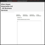 Screen shot of the Hayes Associates Ltd website.
