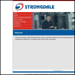 Screen shot of the Strongdale Engineering Ltd website.