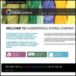 Screen shot of the Yorkshire Wool Dyeing Company Ltd website.