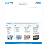 Screen shot of the Hupfer (UK) Ltd website.