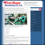 Screen shot of the First Stage Machining Co Ltd website.