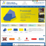 Screen shot of the Alternative Advertising Ltd website.