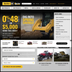 Screen shot of the Butler Equipment Sales Ltd website.