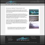 Screen shot of the Airwaves Media Productions Ltd website.