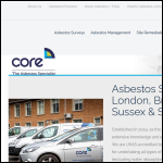 Screen shot of the Core Surveys Ltd website.