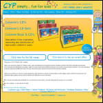 Screen shot of the Cyp Productions Ltd website.