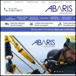 Screen shot of the Abaris International Ltd website.