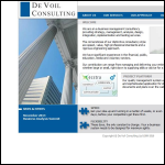 Screen shot of the De Voil Consulting Ltd website.