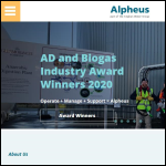 Screen shot of the Alpheus Environmental Ltd website.