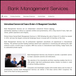 Screen shot of the Bank Management Services Ltd website.