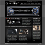 Screen shot of the Sextons Group Ltd website.