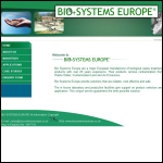 Screen shot of the Bio-Systems Europe website.