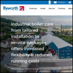 Screen shot of the Byworth Boilers website.
