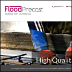 Screen shot of the Flood Precast website.
