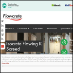 Screen shot of the Flowcrete UK Ltd website.