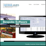 Screen shot of the George James Business Systems Ltd website.