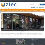 Screen shot of the Aztec Presentations Ltd website.