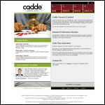 Screen shot of the Cadde Financial Ltd website.