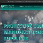 Screen shot of the Hydron Protective Coatings Ltd website.