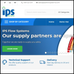 Screen shot of the IPS Flow Systems website.