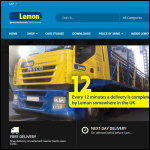 Screen shot of the Lemon Groundwork Supplies website.
