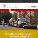 Screen shot of the Pumpmaster Concrete Pumping Ltd website.