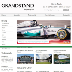Screen shot of the Grandstand Hospitality Ltd website.