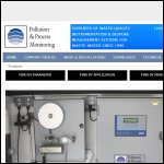 Screen shot of the Pollution & Process Monitoring Ltd website.