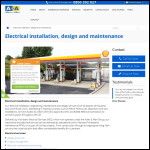 Screen shot of the Worcester Electrical Services Ltd website.