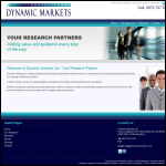 Screen shot of the Dynamic Dynamics Ltd website.