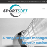 Screen shot of the Sportsoft UK website.