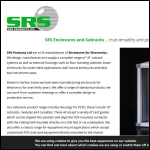 Screen shot of the SRS Products plc website.