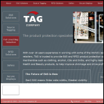 Screen shot of the TAG Company UK website.