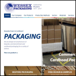 Screen shot of the Wessex Packaging Salisbury Ltd website.