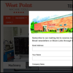 Screen shot of the West Point Machine Tools Ltd website.