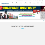 Screen shot of the Brainware Ltd website.